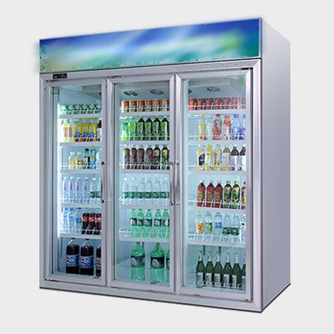 三门饮料柜